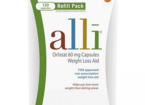Alli Diet Pills for Weight Loss, Orlistat 60 mg
